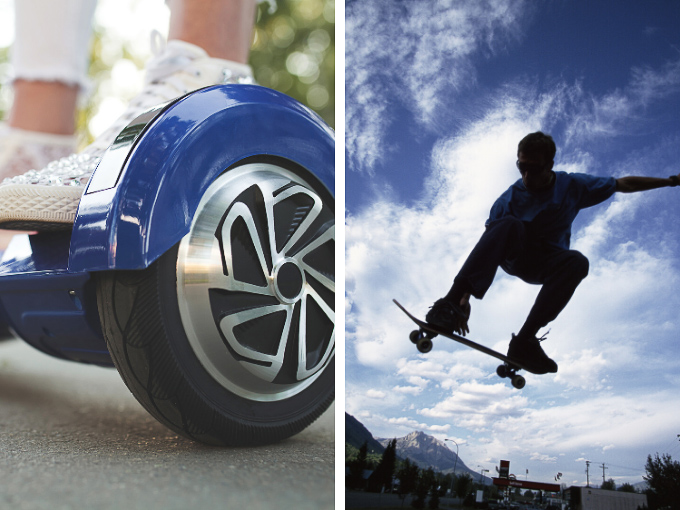 Hoverboards versus skateboards